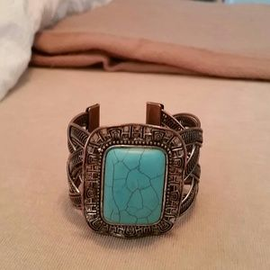 Jewelry - Turquoise and silver cuff bracelet